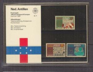 NETHERLANDS ANTILLES,1984 Amigoe de Curacao set of 3, Folder 1.