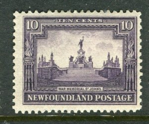 NEWFOUNDLAND; 1928 early pictorial issue Mint hinged 10c. value