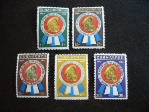 Stamps - Cuba - Scott# 701-702,C226-C228 - Mint Hinged Set of 5 Stamps
