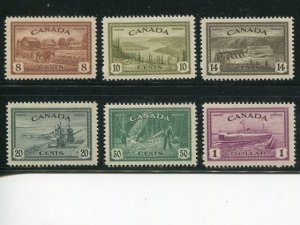 Canada #268-73  Mint VF NH     - Lakeshore Philatelics