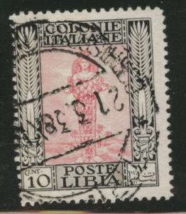 LIBYA Scott 51 used no watermark, 1924 10c