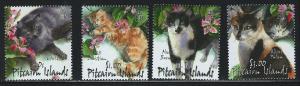 Pitcairn Islands SC557-560 Beautiful Cats MNH 2002