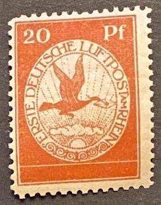 Germany 1912 Airmail Mi II Flugpost am Rhein und Main Mint *Hinged/Unused* OG