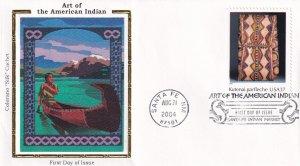 2004, American Indian Art, Colorano Silk, FDC (E12299)