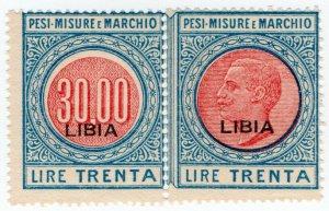 (I.B) Italy (Libya) Revenue : Pesi, Misure e Marchio 30L (Weights & Measures)