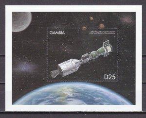 Gambia, Scott cat. 2252. Docked Spacecraft s/sheet. ^