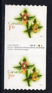 CANADA # 2358 Mint NH - Gutter coil pair - Flower