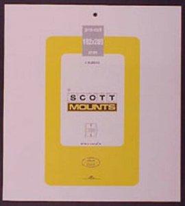 Scott/Prinz Pre-Cut Souvenir Sheets Small Panes Stamp Mounts 182x209 #1019 Clear