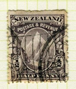 NEW ZEALAND;   1898 No Wmk. Perf 15 pictorial issue used 1/2d.  Shade