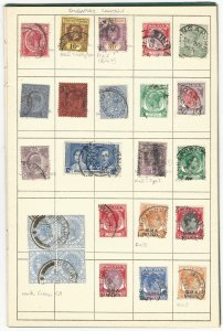 Specialized Singapore Forerunner Cancellation Collection of Eighty (80) Stamps