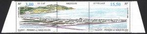 St. Pierre & Miquelon Sc# 630a MNH 1996 3fr-15.50fr Mountains and Buildings