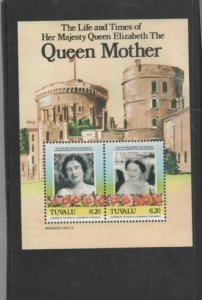 TUVALU #315 1985 QUEEN MOTHER 85TH BIRTHDAY MINT VF NH O.G S/S bb