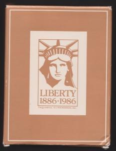 Avon Scott 566 Statue of Liberty Brass Wall Plaque w/ Original Box and booklet