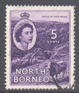 North Borneo Scott 265 - SG376, 1954 Elizabeth II 5c used