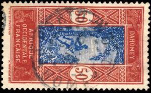 DAHOMEY - 1933 - CAD DOUBLE CERCLE PORTO-NOVO / DAHOMEY SUR N°74