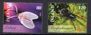Iceland Sc  1160-1 2009 Insects stamp set mint NH