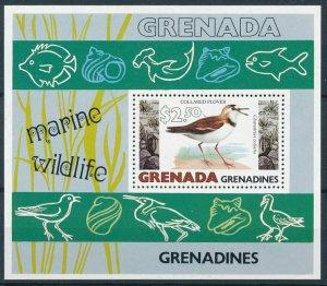 [108792] Grenada Grenadines 1979 Birds Collared Plover Marine life Sheet MNH