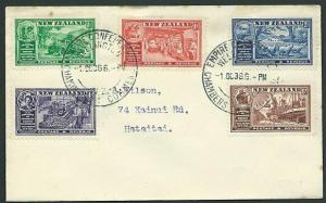 NEW ZEALAND 1936 Commerce set FDC - special Conference pm - cat NZ$75......42985