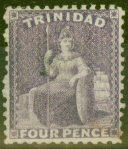 Trinidad 1863 4d Dull Lilac SG70b Fine Lightly Used