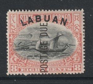 Labuan a MH 8c Postage Due
