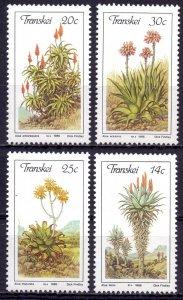 Transkei. 1986. 185-88. Flora. MNH.