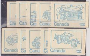Canada - 1972 Booklets X 10 Covers #BK71c