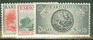 BH: Barbados 216-227 mint CV $73.15; scan shows only a few