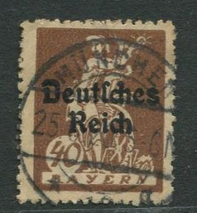 Bavaria -Scott 261 - Deutsches Reich Overprint -1920 - Used - 40pf Stamp