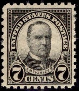 US Stamp #588 7c McKinley MINT Hinged SCV $12.50