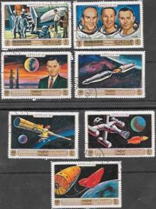 Manama 1972 Set of 7 Space.  Apollo 16. Astronauts