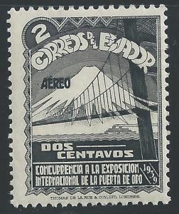 Ecuador #C73 2c Golden Gate Bridge & Mountain Peak