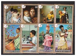 RWANDA 1975 Int.Woman's Day complete set MNH
