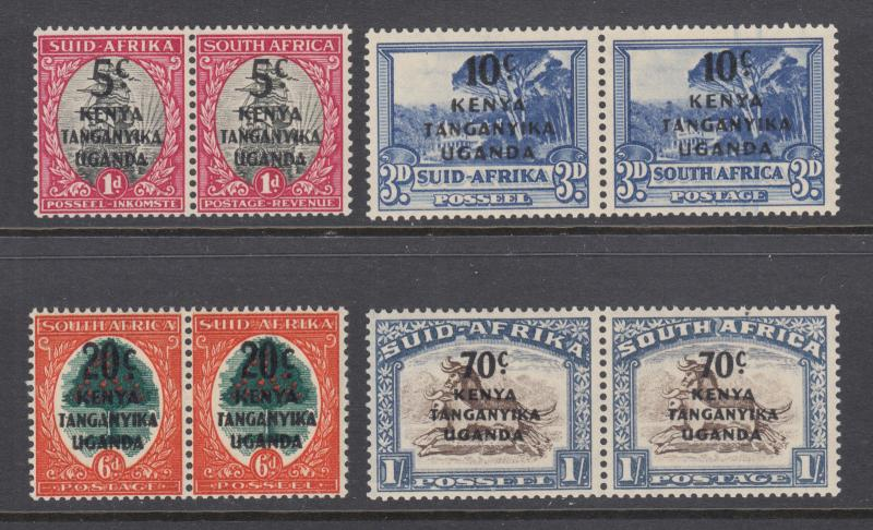 KUT Sc 86-89 MNH. 1941-42 overprints on stamps of South Africa, cplt set, fresh