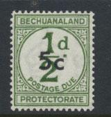 Bechuanaland Postage Due SG D9 thicker d  Mounted Mint
