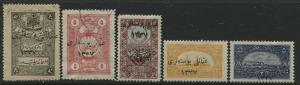 Turkey in Asia 1921 various values mint o.g.
