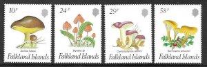 1987  FALKLAND ISLANDS  -  SG.  547 / 550  -  FUNGI   -  MNH