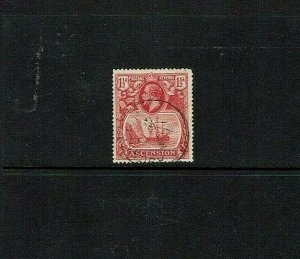 Ascension Island: 1924, 1.5d Rose red, good used, SG 12