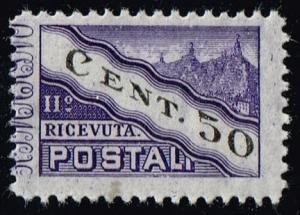 San Marino #Q21 Parcel Post Right Half; Unused (0.25)