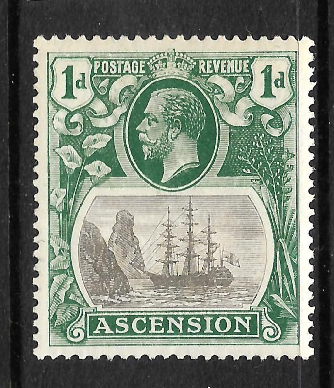 ASCENSION ISLAND  1924-33  1d   SHIP    MLH  SG 11