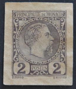 DYNAMITE Stamps: Monaco Scott #2 (cut square) – UNUSED