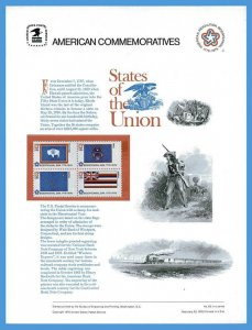 USPS COMMEMORATIVE PANEL #62 STATE FLAGS #1633/82