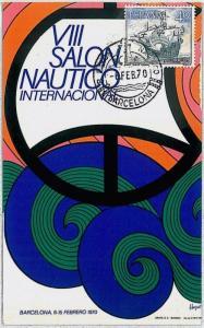 37246 MAXIMUM CARD - SPAIN : SALON NAUTICO: Boat Sailing Expo 1970