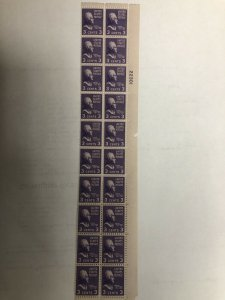 807 Plate Block 20 Mint Never Hinged With Electric Eye