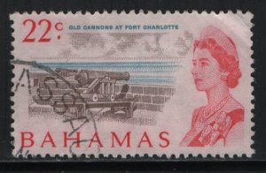 BAHAMAS, 262, USED, 1967, Old cannons at fort Charlotte