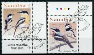 Namibia Birds on Stamps 2020 CTO Batises Pririt Chinspot Batis 2v Set