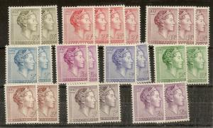 Luxembourg 1960 Charlotte Duplication MNH Cat£45