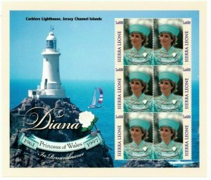 Sierra Leone MNH S/S Princess Diana At Corblere  Lighthouse