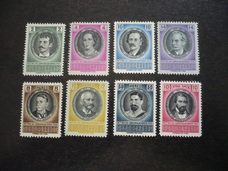 Stamps-Cuba -Scott# 553-556,C131-C133,E21 - Mint Hinged Set of 8 Stamps