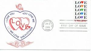 US FDC #2072 Love (9382)