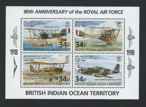 British Indian Ocean Territory souvenir sheet  mnh sc 202